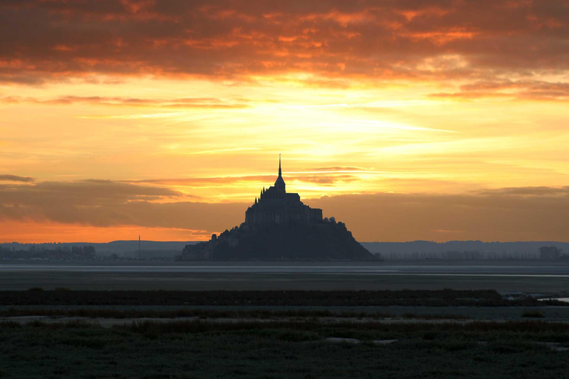 Mont-Saint-Michel soir